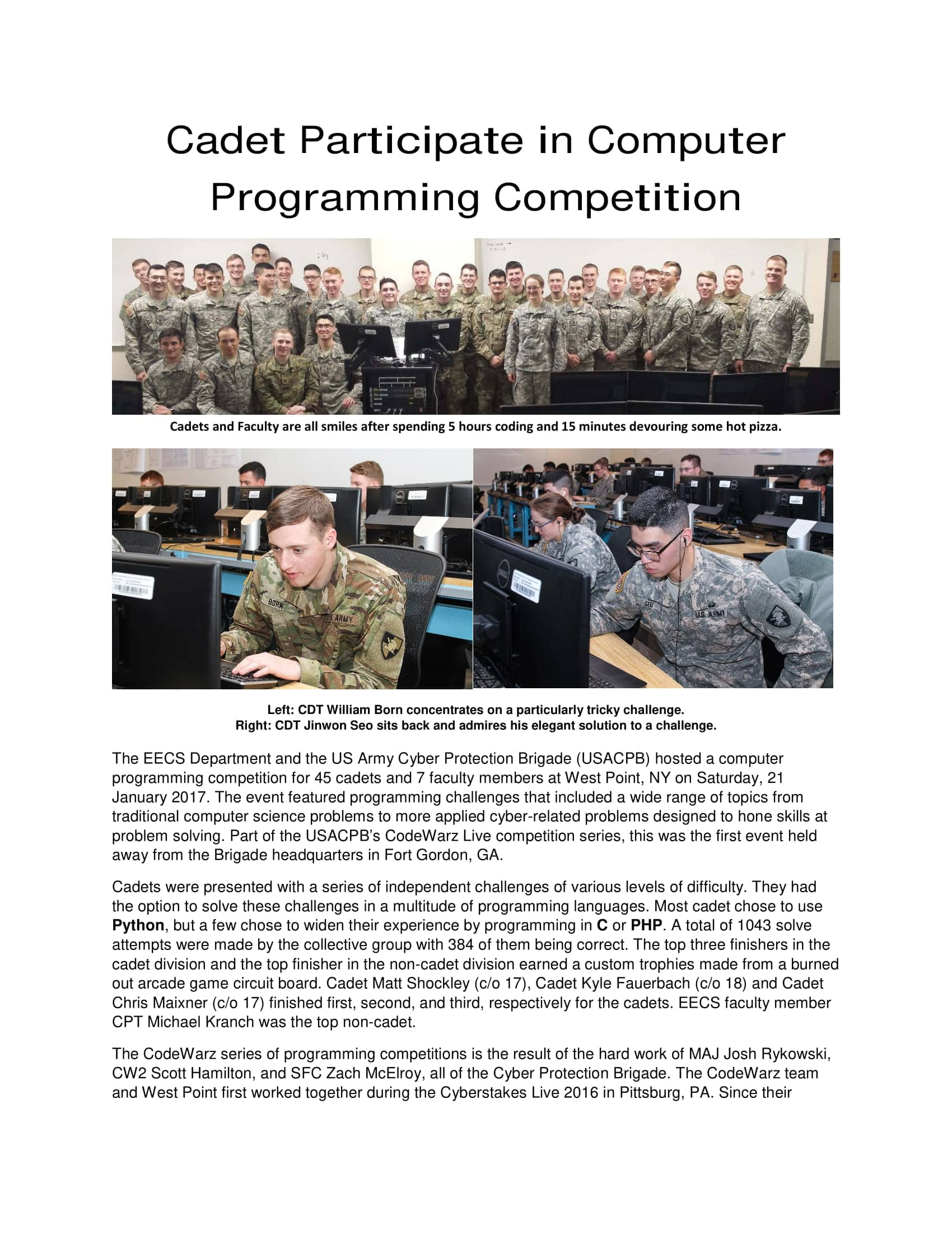 Report from RunCode Live as USMA Part 1